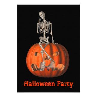 Lanterna de esqueleto de Jack O do convite de fest