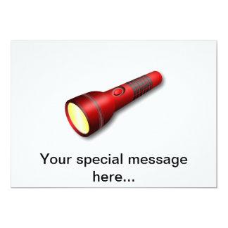 Lanterna elétrica vermelha da tocha