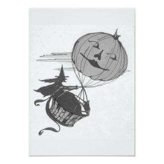 Lanterna monocromática de Jack O do balão de ar da Convite 12.7 X 17.78cm