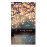 Lanternas do desejo do amor cartão de visita