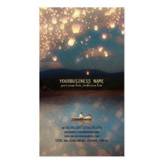 Lanternas do desejo do amor modelo cartão de visita