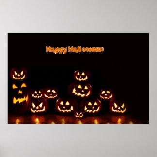 Lanternas felizes de Dia das Bruxas-Jack-o' Poster