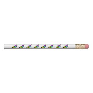 Lápis Clipart colorido da borboleta
