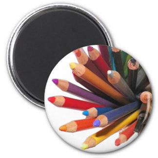 Lápis coloridos artistas do óleo ímã redondo 5.08cm