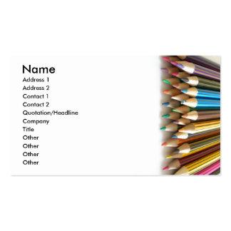 Lápis da coloração modelo cartoes de visita