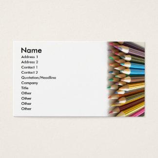 Lápis da coloração cartão de visitas