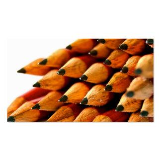 Lápis de madeira dos dias escolares cartões de visita
