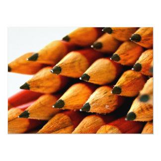 Lápis de madeira dos dias escolares convite 13.97 x 19.05cm