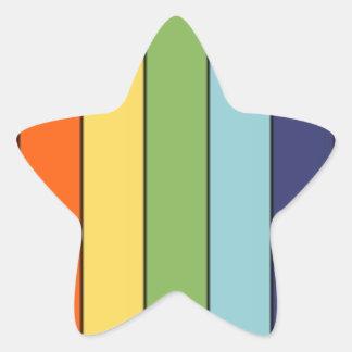 Lápis do arco-íris adesito estrela
