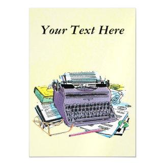 Lápis do papel de máquina de escrever das