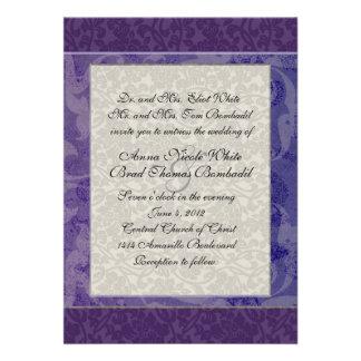 Lapis e convite de prata do casamento do estilo do