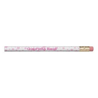 Lápis Estrelas cor-de-rosa personalizadas