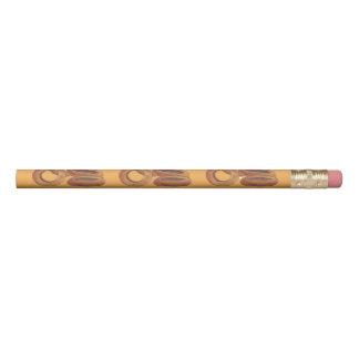 Lápis Fast food fritado ouro Foodie da sucata dos anéis
