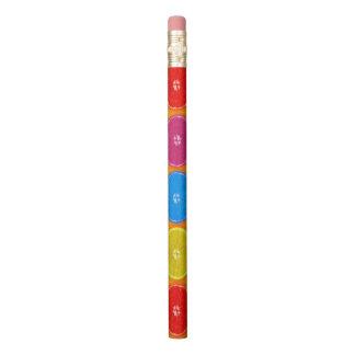 Lápis Fatias alaranjadas coloridas frescas
