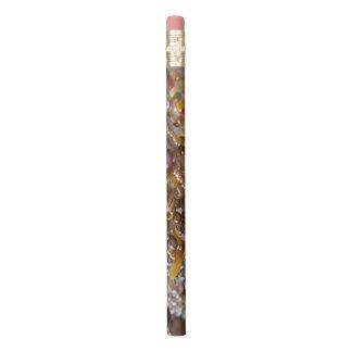Lápis Impressão natural da miçanga de Earthtones do