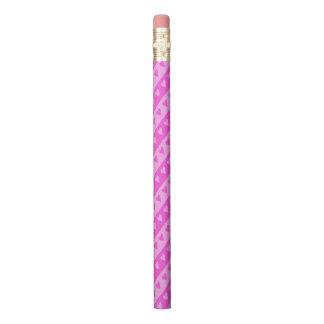 Lápis O coração cor-de-rosa cor-de-rosa & escuro da luz