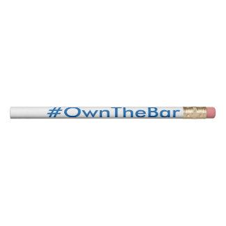 Lápis #OwnTheBar do exame de bar de BARBRI