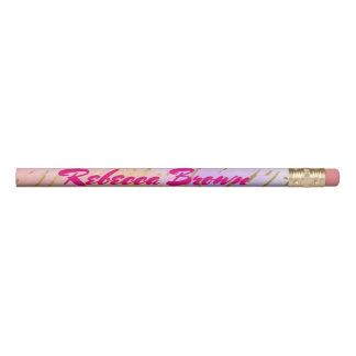 Lápis Rosa bonito e ouro