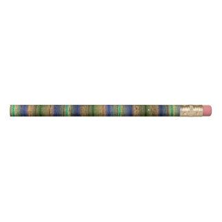 Lápis vintage de madeira colorido da parede