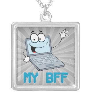 laptop engraçado meus desenhos animados do bff colar