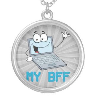 laptop engraçado meus desenhos animados do bff bijuterias personalizadas