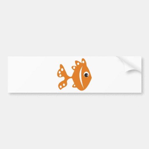 laranj do peixe adesivo