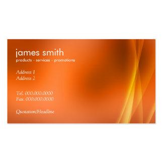 Laranja abstrata moderna profissional cartão de visita
