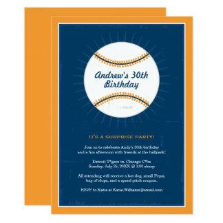 Laranja azul dos convites | do aniversário do tema