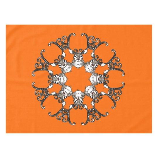 Laranja bonito do tablecloth da casa de campo dos toalha de mesa