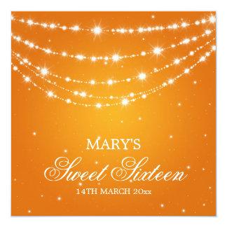 Laranja Chain Sparkling do partido do doce Convites Personalizados