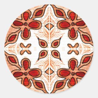 Laranja da flor inspirada pelo português Azulejos Adesivo