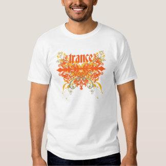 Laranja da folha do Trance Camiseta