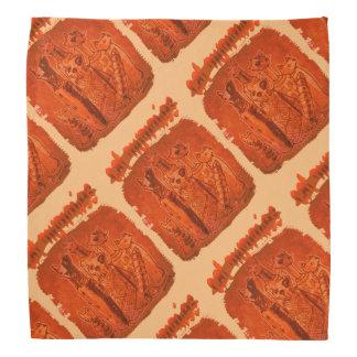 laranja das mamãs do gato telhada e dobrada faixa de cabeça