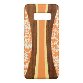 Laranja de madeira da prancha do falso havaiano de capa Case-Mate samsung galaxy s8