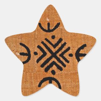 Laranja de pano da lama adesito estrela