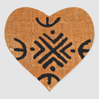 Laranja de pano da lama adesivos de corações