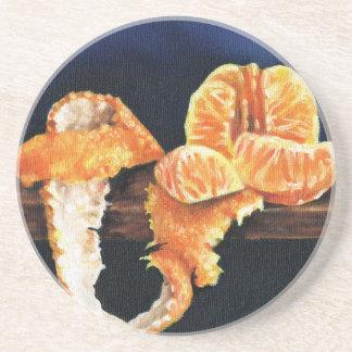 Laranja, descascada porta-copos de arenito