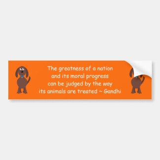Laranja do cão dos desenhos animados das citações adesivo para carro