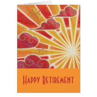 """""""Laranja do cartão da aposentadoria feliz"""" do por"""