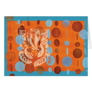 Laranja do cartão de Ganesh