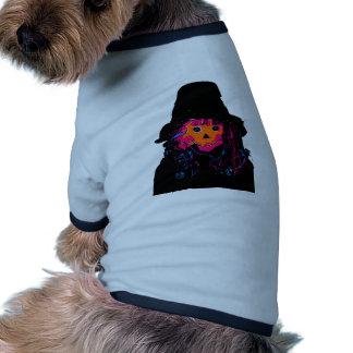 Laranja do espantalho do Dia das Bruxas os present Camiseta Para Caes