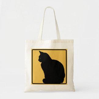 Laranja do gato preto sacola tote budget