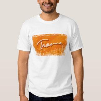 Laranja do raio do Trance T-shirts