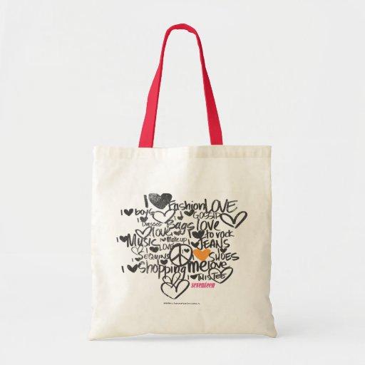 Laranja dos grafites bolsa para compras