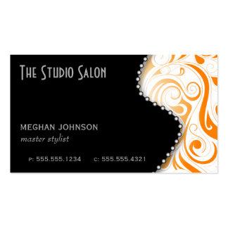 Laranja elegante do cartão de visita da nomeação