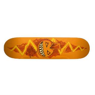 Laranja elétrica - PUNK Shape De Skate 18,4cm