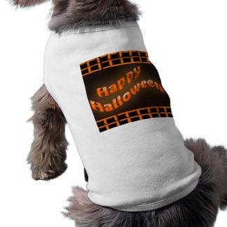 Laranja feliz do Dia das Bruxas Camisa Para Cães