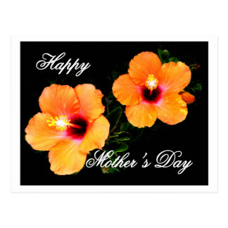 Laranja feliz do hibiscus do dia das mães o MUSEU Cartao Postal