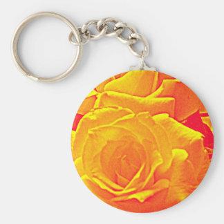 laranja fluorescente do rosa chaveiro