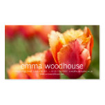 Laranja impetuosa tulipa franjada cartões de visita